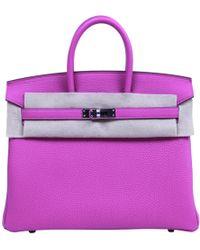 Hermès - Birkin 30 Pink Leather Handbag - Lyst