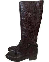 Blumarine Brown Leather