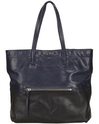 Miu Miu | Pre-owned Madras Leather Tote | Lyst