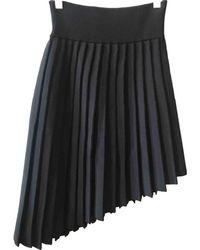 Balmain - Black Polyester Skirt - Lyst