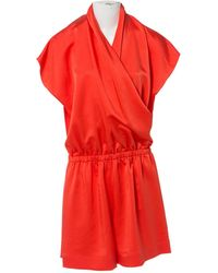 Lanvin - Orange Silk Jumpsuits - Lyst