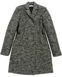 Givenchy - Pre-owned Grey Wool Coats - Lyst