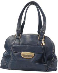 e44482ce5ddf Lancel - Pre-owned Adjani Blue Leather Handbags - Lyst
