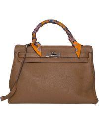 870b349b8f Lyst - Hermès Pre-owned Birkin Leather Handbag in Purple