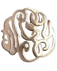 Ginette NY - Pre-owned Monograms Pink Gold Ring - Lyst