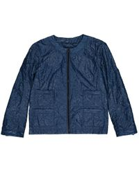 Chanel - Blue Synthetic Jacket - Lyst