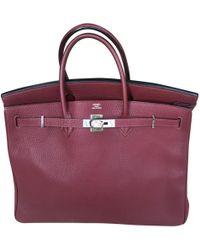 Hermès - Birkin 40 Burgundy Leather Handbag - Lyst