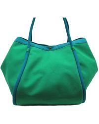 Hermès - Pre-owned Lindy Green Cloth Handbags - Lyst