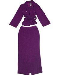 Chanel - Pre-owned Vintage Purple Skirts - Lyst