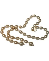 Chanel - Pre-owned Vintage Other Metal Necklace - Lyst