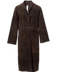 Claudie Pierlot - Pre-owned Leather Coat - Lyst