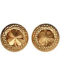 Chanel - Pre-owned Vintage Gold Metal Earrings - Lyst