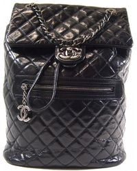 739a7570c4c0 Lyst - Chanel Leather Backpack in Black