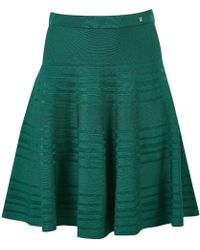 Carolina Herrera - Green Viscose Skirt - Lyst