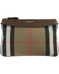 Burberry - Pre-owned Cloth Clutch Bag - Lyst