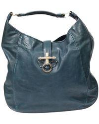 10a6e9de8f Givenchy - Obsedia Blue Leather Handbag - Lyst