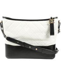 Chanel - Gabrielle White Leather Handbag - Lyst