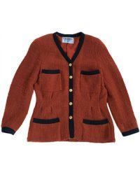 Chanel - Vintage Red Wool Jacket - Lyst