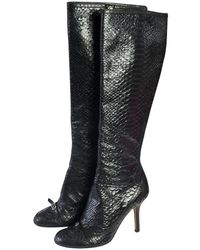 9d517f4d9f52 Christian Louboutin Python Boots in Natural - Lyst