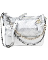 0af23904c35b1b Lyst - Chanel Gabrielle Burgundy Leather Handbag in Black