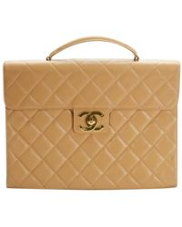 Chanel - Pre-owned Leather Satchel - Lyst