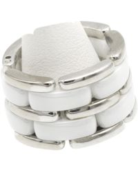 Chanel - Pre-owned Ultra White White Gold Rings - Lyst
