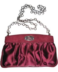 Emilio Pucci - Pre-owned Burgundy Silk Handbag - Lyst