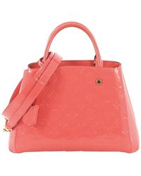 Louis Vuitton - Montaigne Pink Leather Handbag - Lyst