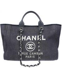 Chanel - Deauville Blue Denim - Jeans Travel Bag - Lyst