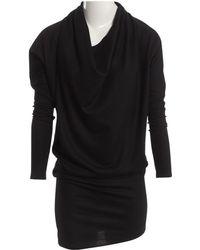 Helmut Lang - Black Wool Dress - Lyst