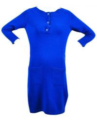 Chanel - Cashmere Mid-length Dress - Lyst