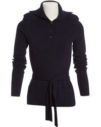 Chanel - Navy Wool Knitwear - Lyst