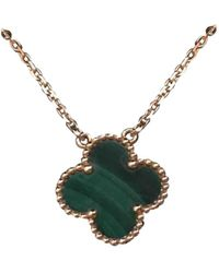 Van Cleef & Arpels - Pre-owned Alhambra Yellow Gold Necklace - Lyst