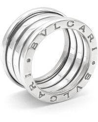 BVLGARI - Pre-owned B.zero1 Silver White Gold Rings - Lyst