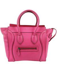 b38adfd31af Céline - Pre-owned Luggage Pink Leather Handbags - Lyst