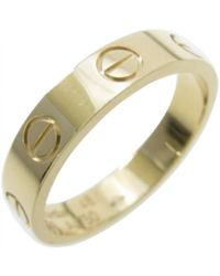 Cartier | Love Yellow Gold Ring | Lyst