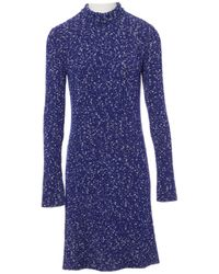 Céline - Pre-owned Wool Mid-length Dress - Lyst