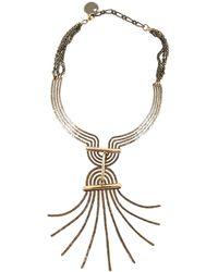 Lanvin - Gold Metal Necklace - Lyst