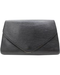 3aeb737235ae Chanel Pre-owned Vintage Wallet On Chain Black Velvet Clutch Bag in ...
