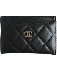 Chanel - Pre-owned Timeless Leather Card Wallet - Lyst