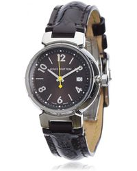 Louis Vuitton - Pre-owned Tambour Silver Watch - Lyst