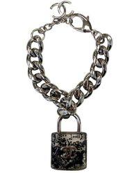 Chanel | Pre-owned White Metal Bracelet | Lyst