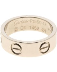 Cartier - Love Other Platinum Ring - Lyst