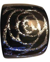 Chanel - Camélia Black Plastic Bracelets - Lyst