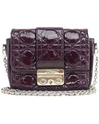 Dior - Pre-owned Miss Patent Leather Crossbody Bag - Lyst