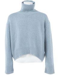 Céline - Pre-owned Blue Cashmere Knitwear & Sweatshirts - Lyst