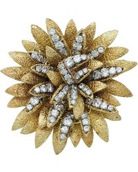 Van Cleef & Arpels - Vintage Other Yellow Gold Pins & Brooches - Lyst