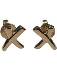 Tiffany & Co. - Paloma Picasso Pink Gold Earrings - Lyst