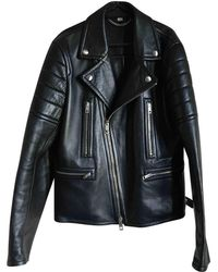 Burberry - Leather Jacket - Lyst