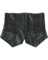 Alexander Wang - Black Leather Belts - Lyst